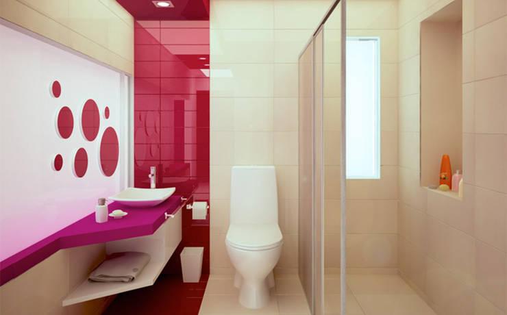 Casa PG: Baños de estilo  por BCA taller de diseño