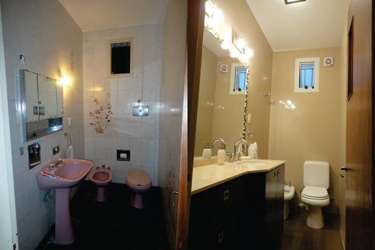 Antes y Despuès - baños apareados: Baños de estilo  por D&D Arquitectura