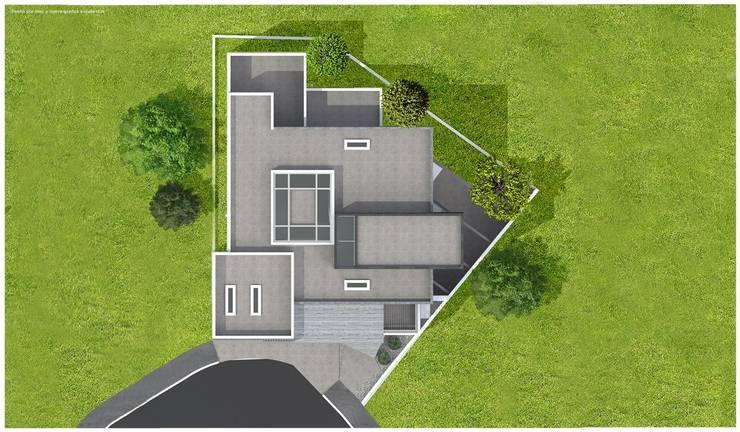 Planta de conjunto:  de estilo  por Diez y Nueve Grados Arquitectos