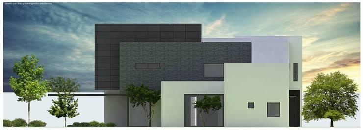 Elevación posterior:  de estilo  por Diez y Nueve Grados Arquitectos