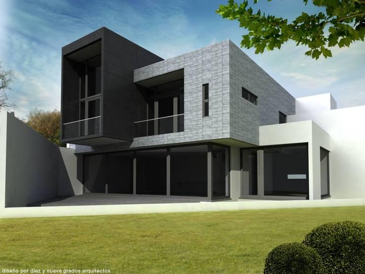 Fachada lateral:  de estilo  por Diez y Nueve Grados Arquitectos