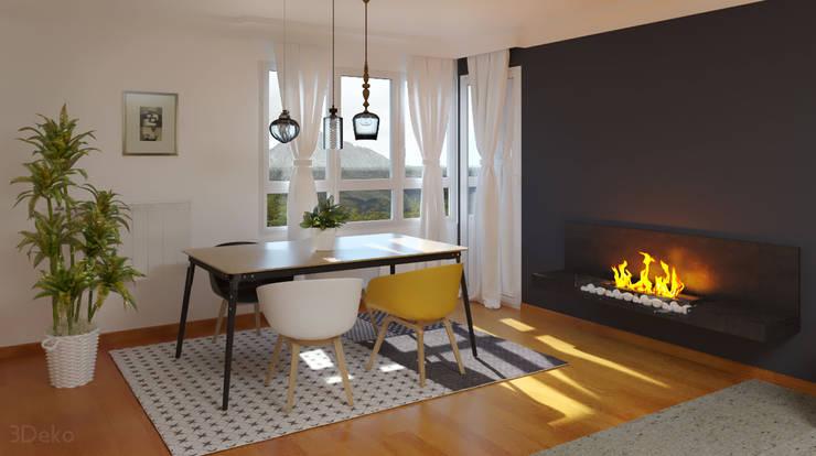 3D render - kitchen: Comedores de estilo  por 3Deko