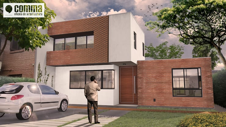 Houses by Comma - Oficina de arquitectura, Modern Bricks