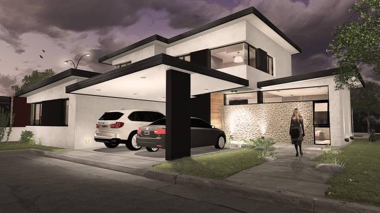 """Casa """"N"""": Casas de estilo  por Comma - Oficina de arquitectura,"""