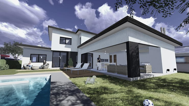 Casa <q>N</q>: Casas de estilo  por Comma - Oficina de arquitectura,