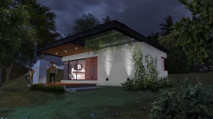 "Cabaña ""V"": Casas de estilo  por Comma - Oficina de arquitectura"