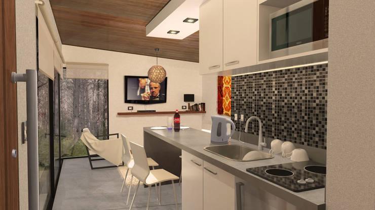 Cabaña <q>V</q>: Livings de estilo  por Comma - Oficina de arquitectura