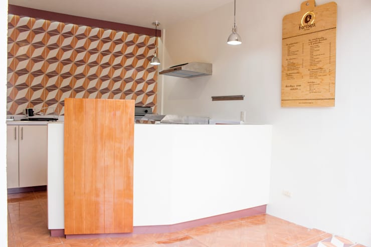 Local Comercial La Hormiga Tortas en Amapolas, Oaxaca México: Cocinas de estilo  por Additivo al diseño