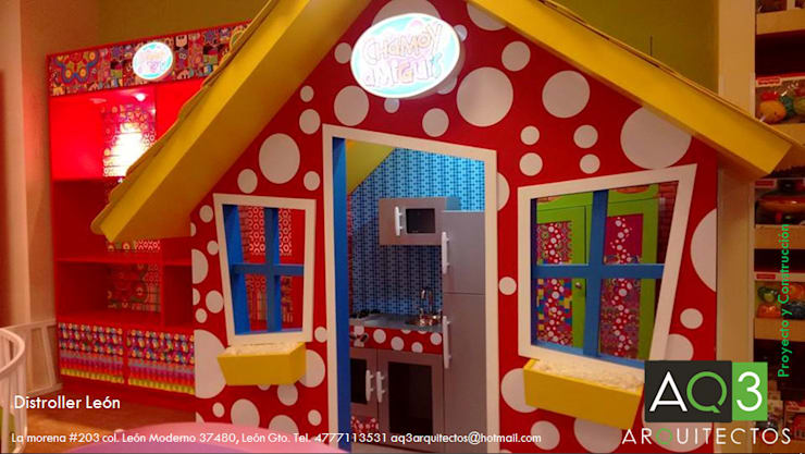 Distroller Leon: Oficinas y tiendas de estilo  por AQ3 Arquitectos