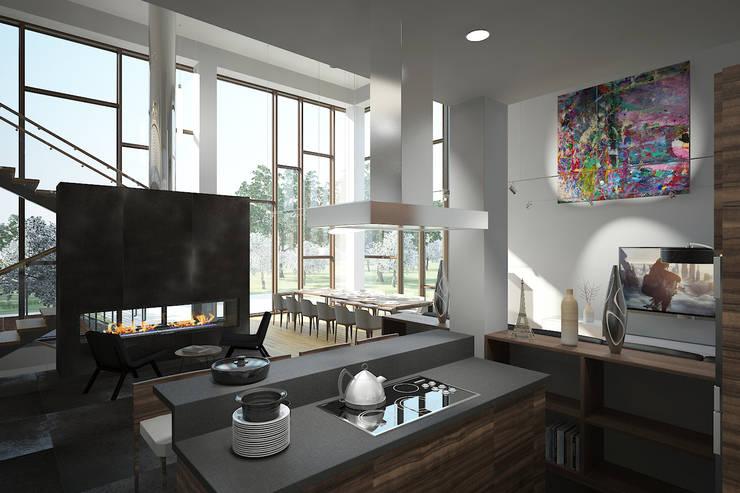 LK villa's interior design:  Küche von nadine buslaeva interior design