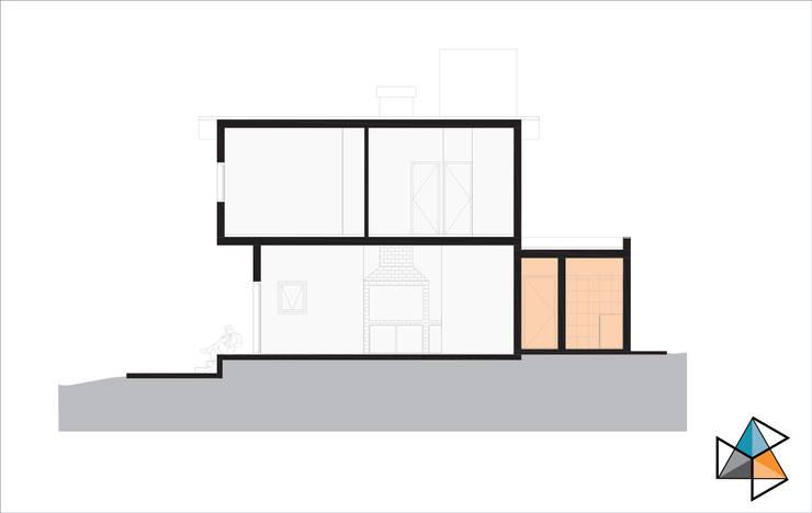 CASA ARN: Dormitorios de estilo  por Trecon Arquitectura e Ingeniería,