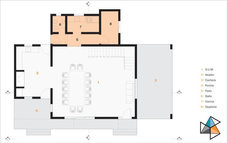 CASA ARN: Livings de estilo  por Trecon Arquitectura e Ingeniería,