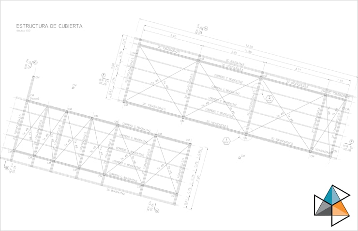 Proyecto estructural Casa Unquillo: Casas de estilo  por Trecon Arquitectura e Ingeniería