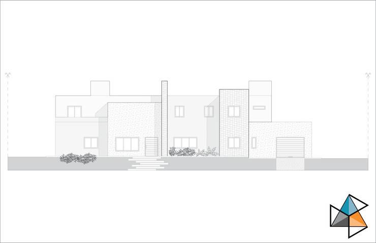 Fachada principal: Casas de estilo  por Trecon Arquitectura e Ingeniería
