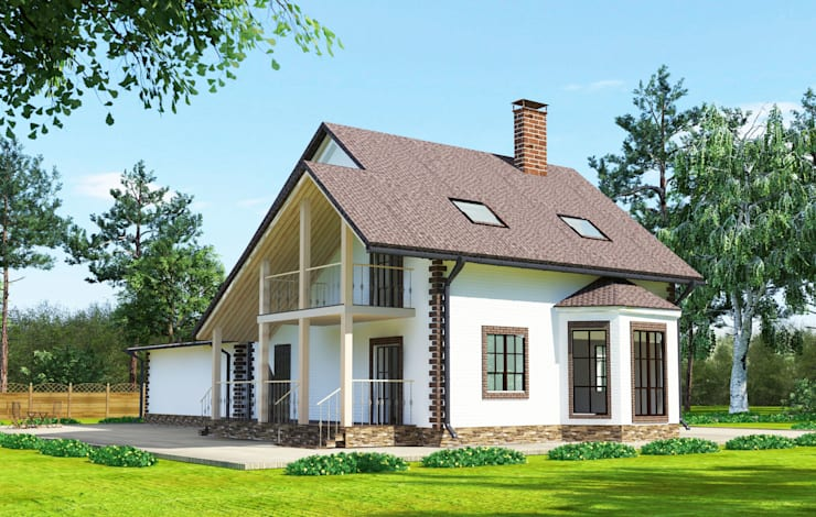 Projekty,  Domy zaprojektowane przez Садовникова Наталья Евгеньевна