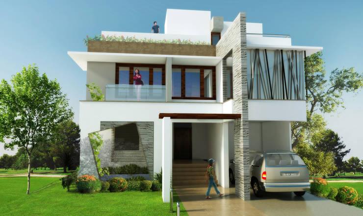 Mr. Babu Residence:  Houses by Izza Architects & Interior designers