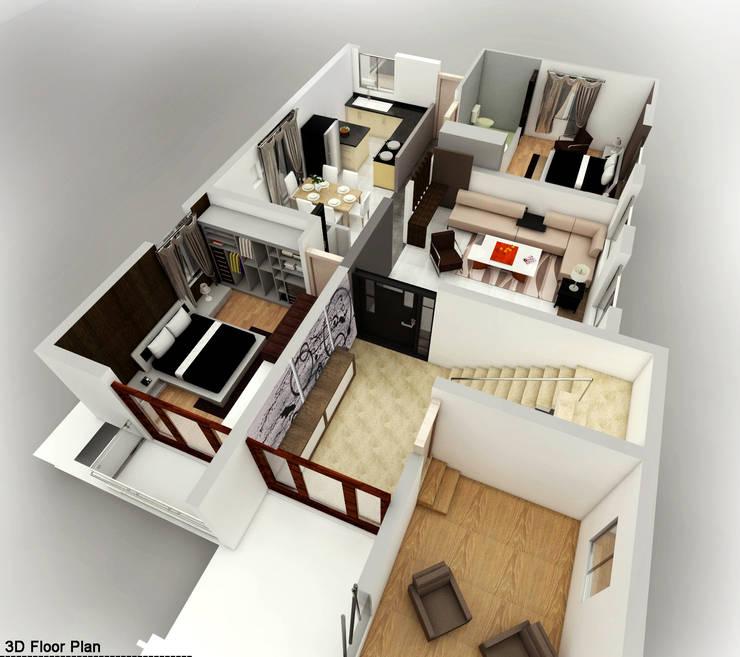 Mr. Babu Residence:   by Izza Architects & Interior designers