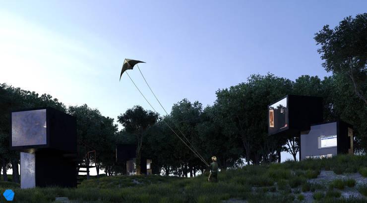 Black Box: Casas de estilo  por BenSin Estudio de Visualización,Minimalista Hormigón
