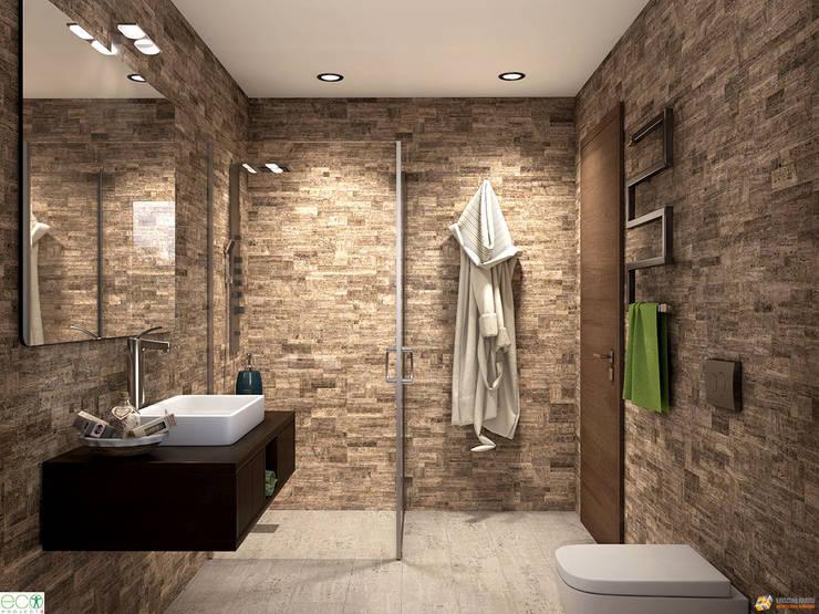 حمام تنفيذ KRISZTINA HAROSI - ARCHITECTURAL RENDERING