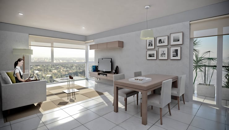 Departamento 2 dormitorio Casas modernas: Ideas, imágenes y decoración de Akros S.R.L. Moderno