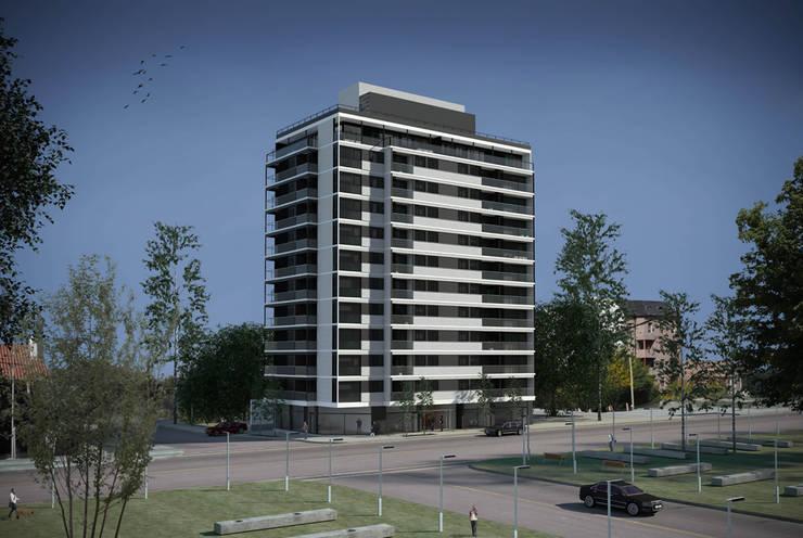 Edificio Gemma 2 Casas modernas: Ideas, imágenes y decoración de Akros S.R.L. Moderno