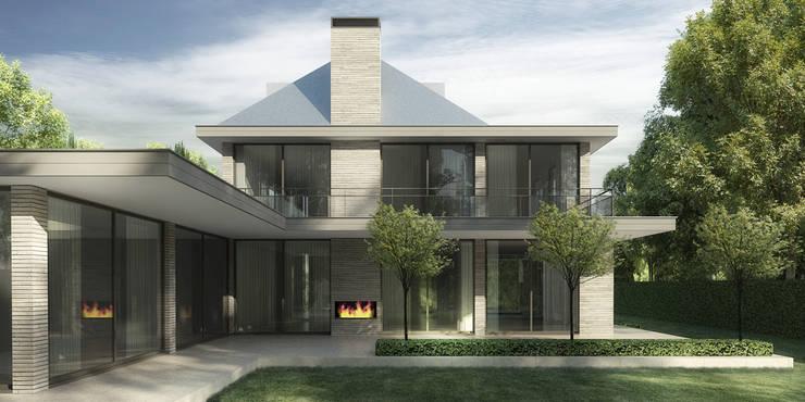 EIGENTIJDSE VILLA ZEIST:  Huizen door DENOLDERVLEUGELS Architects & Associates, Klassiek