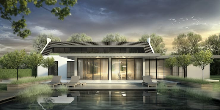 LANDELIJK MODERNE HOEVE GEEL:  Huizen door DENOLDERVLEUGELS Architects & Associates