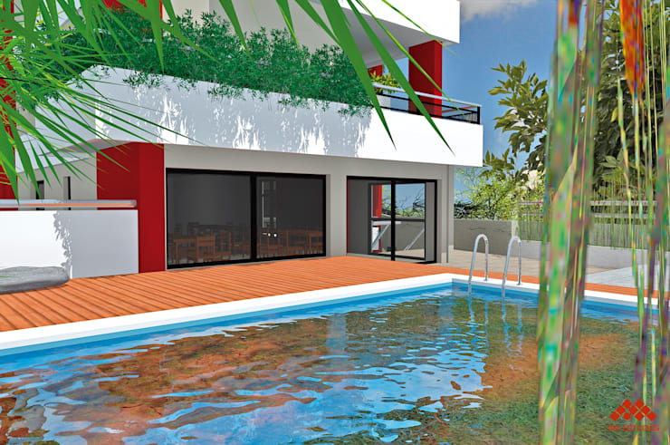 ECO EDIFICIO GUAY 1: Edificios de Oficinas de estilo  por AM Estudios