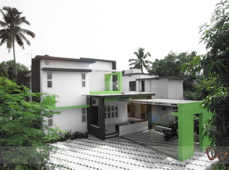 GREEN COLLAGE:  Houses by DREAM INFINITE,Minimalist