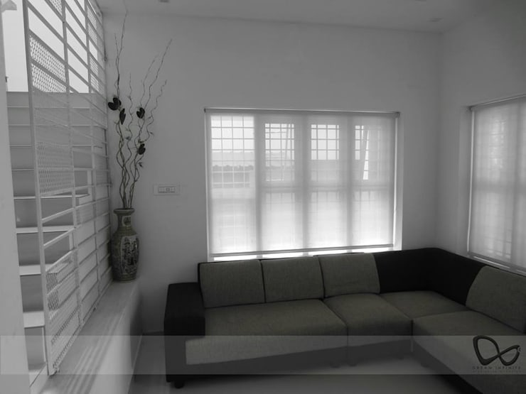 GREEN COLLAGE:  Living room by DREAM INFINITE,Minimalist