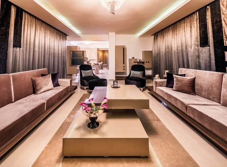 Şölen Üstüner İç mimarlık – RBK evi Lapta/ Girne: modern tarz Oturma Odası