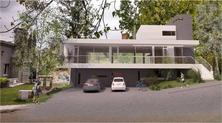 Frente Principal: Casas de estilo  por Poggi Schmit Arquitectura