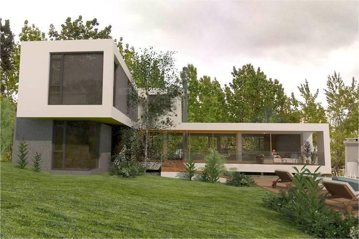 Desde Patio 2: Casas de estilo  por Poggi Schmit Arquitectura