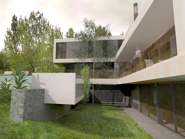 Desde Patio 3: Casas de estilo  por Poggi Schmit Arquitectura