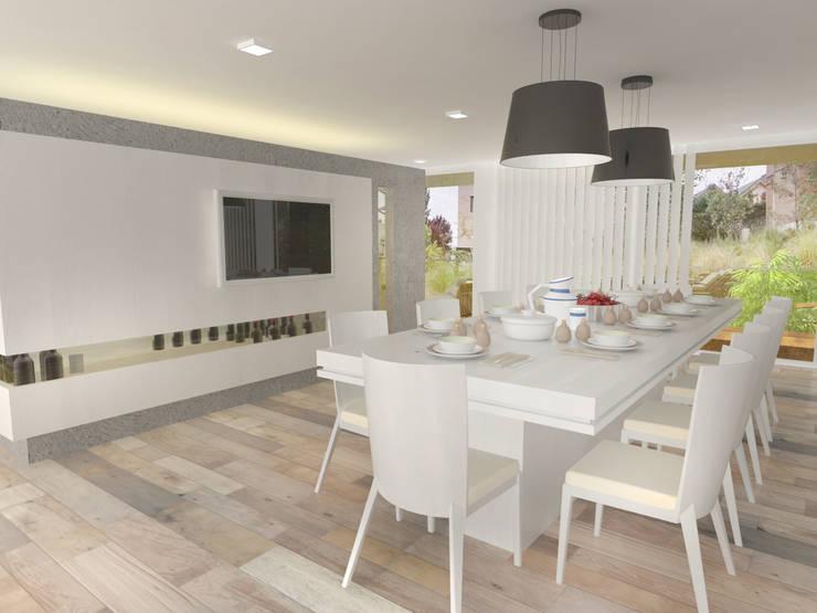 Interior Comedor 2: Casas de estilo  por Poggi Schmit Arquitectura