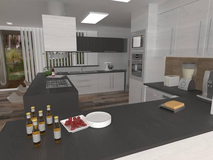 Interior Cocina: Casas de estilo  por Poggi Schmit Arquitectura