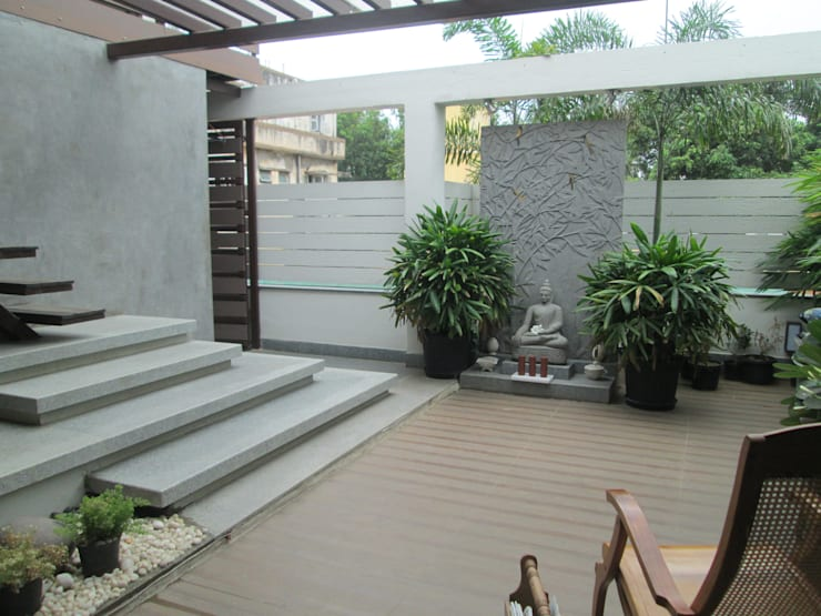 Second floor terrace - after:   by Uncut Design Lab
