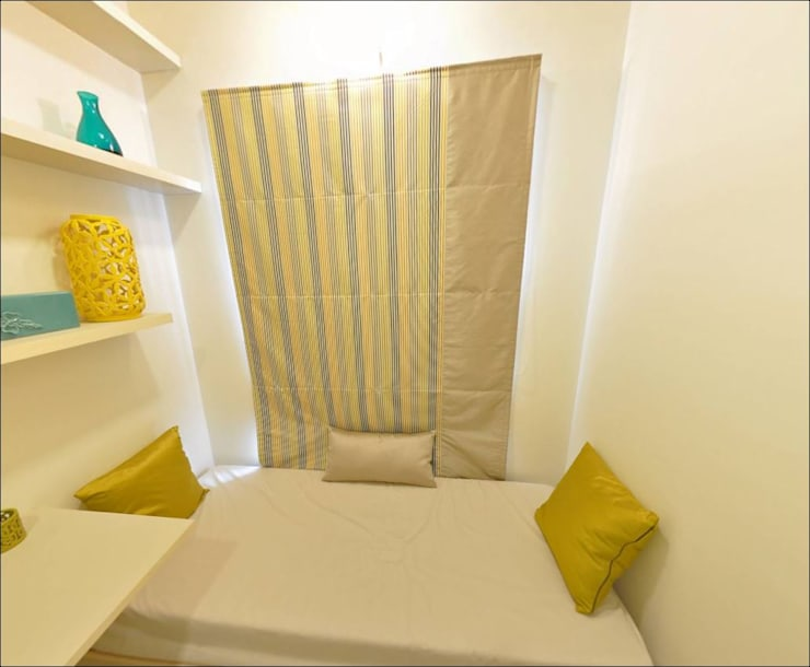 Two BHK -Model apartment - Embassy Builders Chennai:  Bedroom by Uncut Design Lab