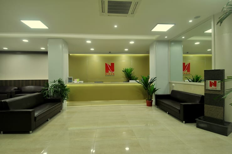 Turnkey Interior Solution for Nidan Diagnostics:  Clinics by ORIGIN ASSOCIATES