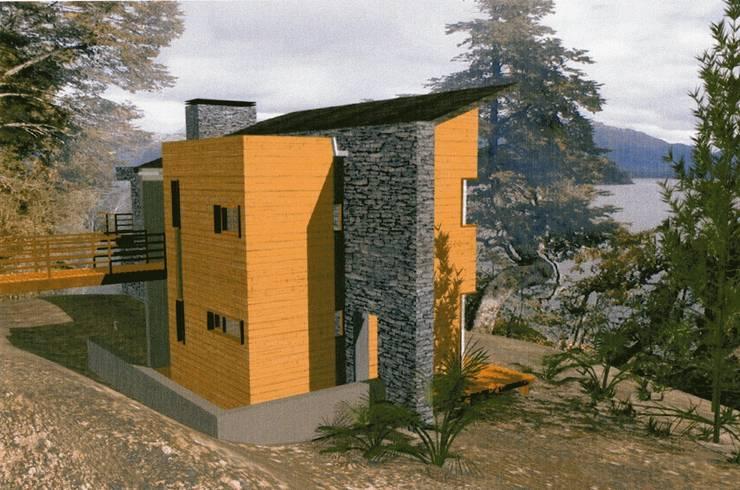 PROYECTO CASA VISERA - VILLA LA ANGOSTURA:  de estilo  por Arquitecto Perez Olognero