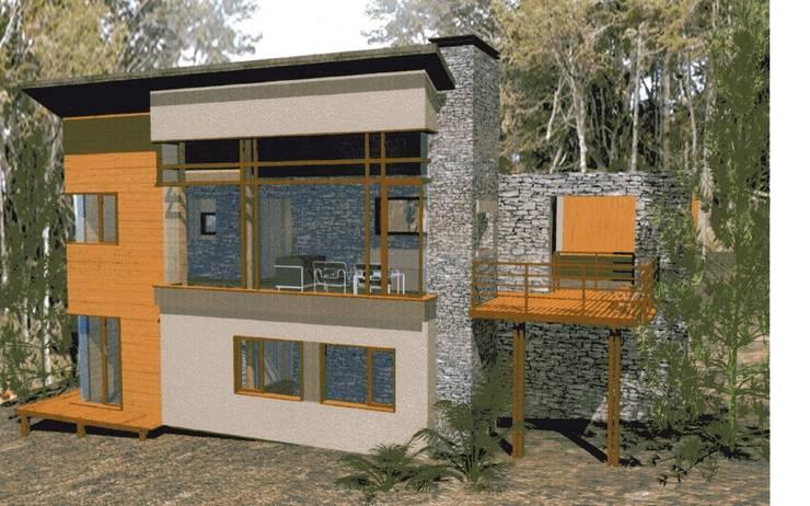 PROYECTO CASA VISERA – VILLA LA ANGOSTURA:  de estilo  por Arquitecto Perez Olognero