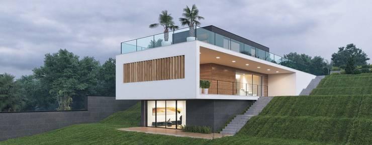Casa in legno spettacolare: Case in stile  di Progettolegno srl