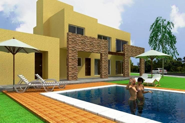 Proyecto en country Los Olivos  Casa PZNL: Casas de estilo  por Obras & Proyectos,
