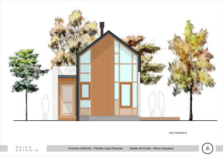 Vista Lateral: Casas de estilo  por Paico,