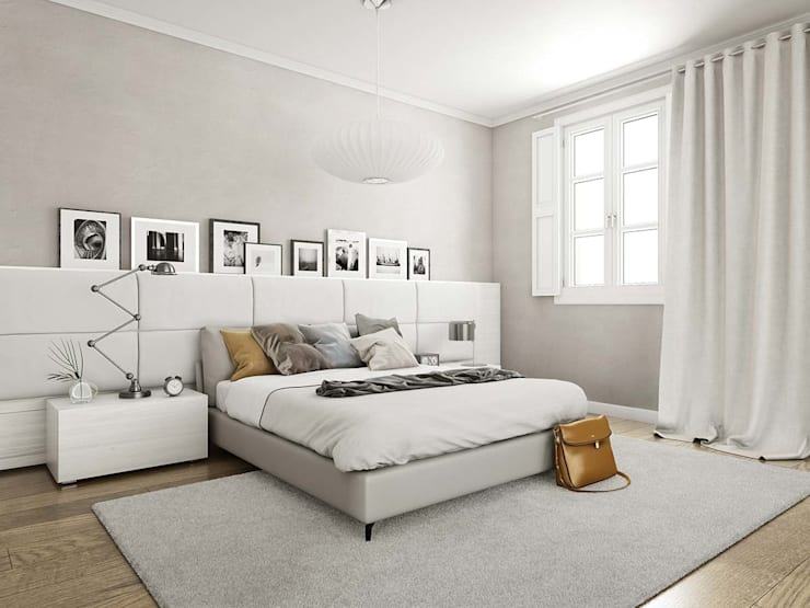 Render 3D vivienda en Barcelona: Dormitorios de estilo  de Berga&Gonzalez - arquitectura y render