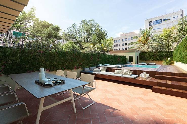 Terrasse de style  par Berga&Gonzalez - arquitectura y render