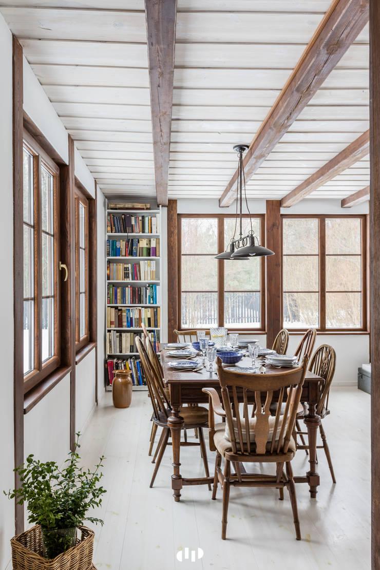 89 metrowy dom k. Warszawy: styl , w kategorii Jadalnia zaprojektowany przez dziurdziaprojekt