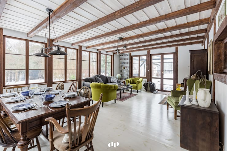 ห้องนั่งเล่น by dziurdziaprojekt