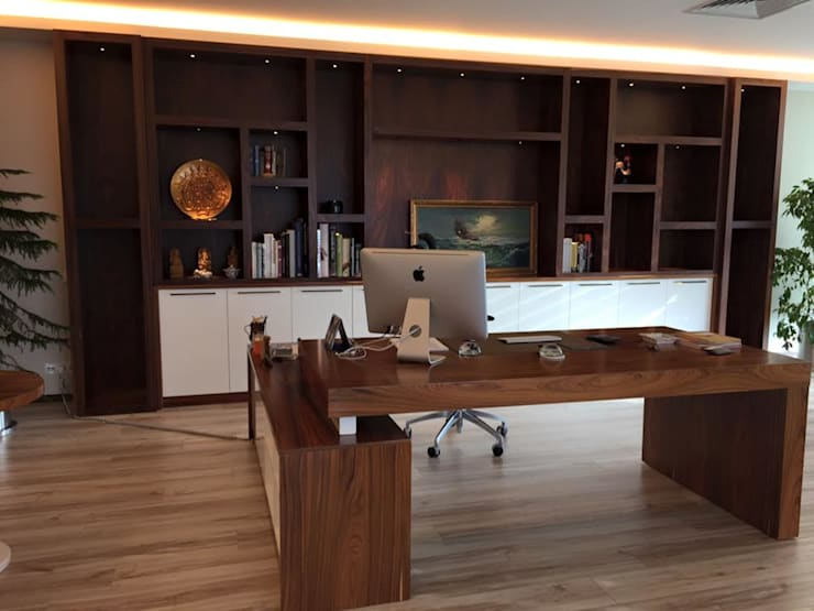 DEKORKUR  Mimarlık  – Çalışmalar: modern tarz Çalışma Odası
