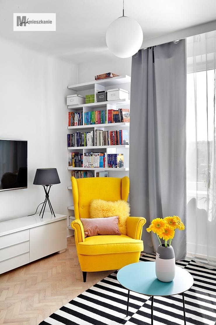 Livings de estilo escandinavo de dziurdziaprojekt Escandinavo
